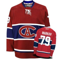 Adult Montreal Canadiens Andrei Markov Reebok Red Authentic New CA NHL Jersey