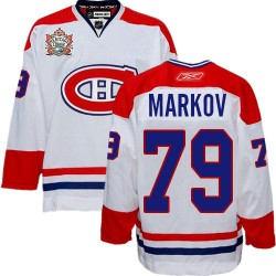 Adult Montreal Canadiens Andrei Markov Reebok White Authentic Heritage Classic NHL Jersey