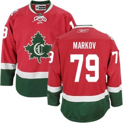 Youth Montreal Canadiens Andrei Markov Reebok Red Authentic New CD Third NHL Jersey
