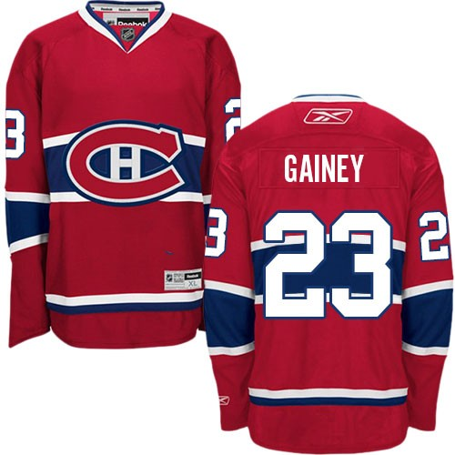 Adult Montreal Canadiens Bob Gainey Reebok Red Authentic Home NHL Jersey