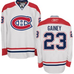 Adult Montreal Canadiens Bob Gainey Reebok White Authentic Away NHL Jersey