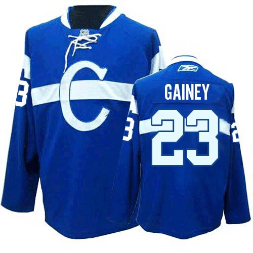 Adult Montreal Canadiens Bob Gainey Reebok Blue Authentic Third NHL Jersey