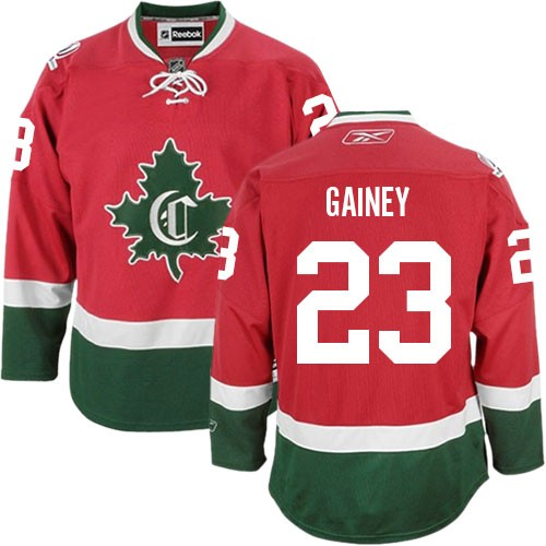 Adult Montreal Canadiens Bob Gainey Reebok Red Premier New CD Third NHL Jersey