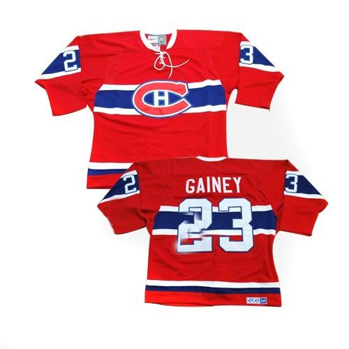 Adult Montreal Canadiens Bob Gainey CCM Red Premier Throwback NHL Jersey