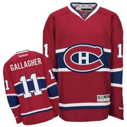 Adult Montreal Canadiens Brendan Gallagher Reebok Red Authentic Home NHL Jersey