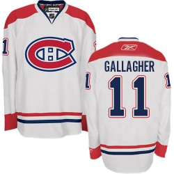 Adult Montreal Canadiens Brendan Gallagher Reebok White Authentic Away NHL Jersey