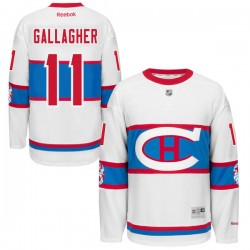 Adult Montreal Canadiens Brendan Gallagher Reebok Black Authentic 2016 Winter Classic NHL Jersey