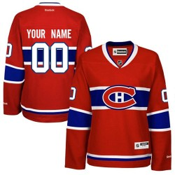 Reebok Montreal Canadiens Women's Customized Authentic Red Home Jersey