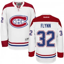 Adult Montreal Canadiens Brian Flynn Reebok White Authentic Away NHL Jersey