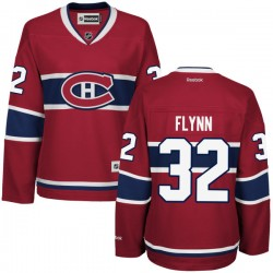 Women's Montreal Canadiens Brian Flynn Reebok Red Authentic Home NHL Jersey
