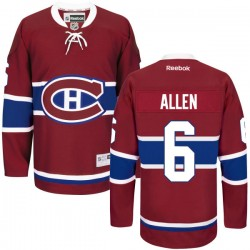 Adult Montreal Canadiens Bryan Allen Reebok Red Authentic Home NHL Jersey