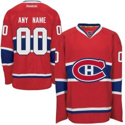 Reebok Montreal Canadiens Men's Customized Authentic Red Home Jersey