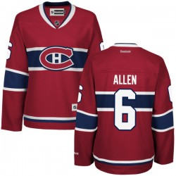 Women's Montreal Canadiens Bryan Allen Reebok Red Authentic Home NHL Jersey