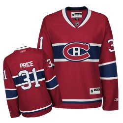 Women's Montreal Canadiens Carey Price Reebok Red Authentic Home NHL Jersey