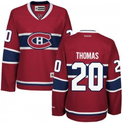 Women's Montreal Canadiens Christian Thomas Reebok Red Premier Home NHL Jersey