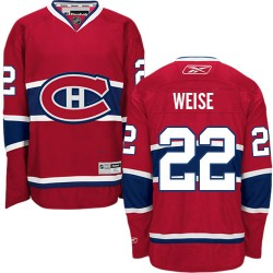 Adult Montreal Canadiens Dale Weise Reebok Red Authentic Home NHL Jersey