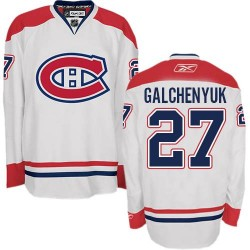 Adult Montreal Canadiens Alex Galchenyuk Reebok White Authentic Away NHL Jersey
