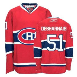 Adult Montreal Canadiens David Desharnais Reebok Red Authentic Home NHL Jersey