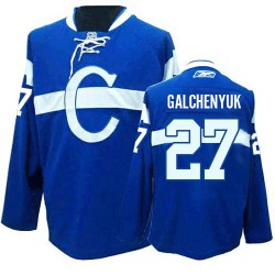 Adult Montreal Canadiens Alex Galchenyuk Reebok Blue Premier Third NHL Jersey