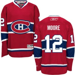 Adult Montreal Canadiens Dickie Moore Reebok Red Authentic Home NHL Jersey
