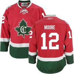 Adult Montreal Canadiens Dickie Moore Reebok Red Premier New CD Third NHL Jersey
