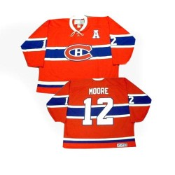 Adult Montreal Canadiens Dickie Moore CCM Red Authentic Throwback NHL Jersey