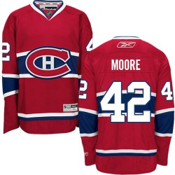 Adult Montreal Canadiens Dominic Moore Reebok Red Authentic Home NHL Jersey