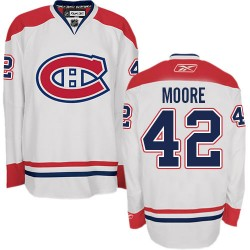 Adult Montreal Canadiens Dominic Moore Reebok White Authentic Away NHL Jersey