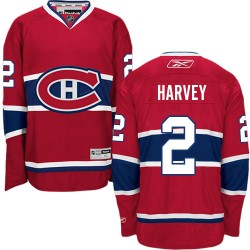 Adult Montreal Canadiens Doug Harvey Reebok Red Authentic Home NHL Jersey