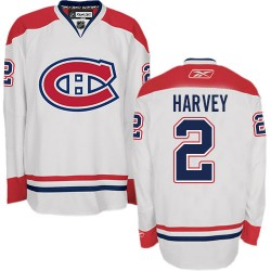 Adult Montreal Canadiens Doug Harvey Reebok White Authentic Away NHL Jersey