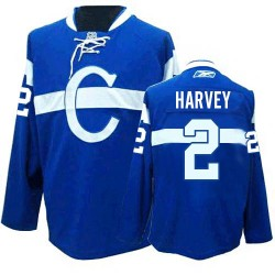 Adult Montreal Canadiens Doug Harvey Reebok Blue Authentic Third NHL Jersey
