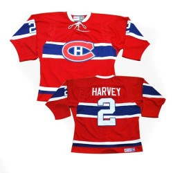 Adult Montreal Canadiens Doug Harvey CCM Red Authentic Throwback NHL Jersey