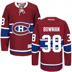 Adult Montreal Canadiens Drayson Bowman Reebok Red Authentic Home NHL Jersey