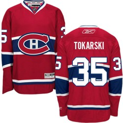 Adult Montreal Canadiens Dustin Tokarski Reebok Red Premier Home NHL Jersey
