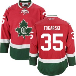 Adult Montreal Canadiens Dustin Tokarski Reebok Red Premier New CD Third NHL Jersey