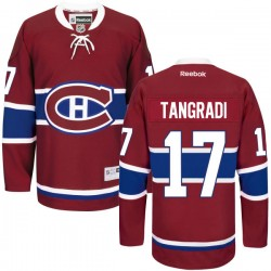 Adult Montreal Canadiens Eric Tangradi Reebok Red Authentic Home NHL Jersey