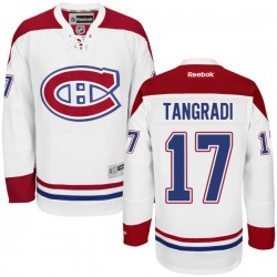 Adult Montreal Canadiens Eric Tangradi Reebok White Authentic Away NHL Jersey
