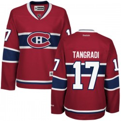 Women's Montreal Canadiens Eric Tangradi Reebok Red Premier Home NHL Jersey