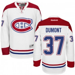 Adult Montreal Canadiens Gabriel Dumont Reebok White Authentic Away NHL Jersey
