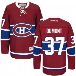 Adult Montreal Canadiens Gabriel Dumont Reebok Red Premier Home NHL Jersey