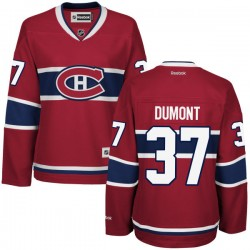 Women's Montreal Canadiens Gabriel Dumont Reebok Red Premier Home NHL Jersey