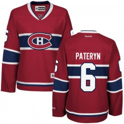 Women's Montreal Canadiens Greg Pateryn Reebok Red Premier Home NHL Jersey