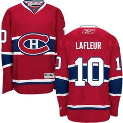Adult Montreal Canadiens Guy Lafleur Reebok Red Authentic Home NHL Jersey