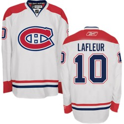 Adult Montreal Canadiens Guy Lafleur Reebok White Authentic Away NHL Jersey