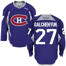 Adult Montreal Canadiens Alex Galchenyuk Reebok Purple Authentic Practice NHL Jersey
