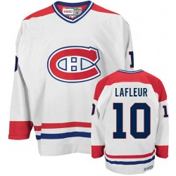Adult Montreal Canadiens Guy Lafleur CCM White Authentic CH Throwback NHL Jersey
