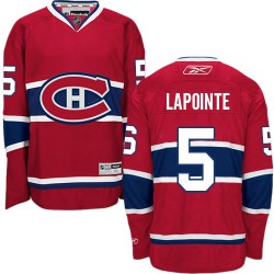 Adult Montreal Canadiens Guy Lapointe Reebok Red Premier Home NHL Jersey