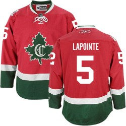 Adult Montreal Canadiens Guy Lapointe Reebok Red Authentic New CD Third NHL Jersey
