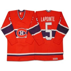 Adult Montreal Canadiens Guy Lapointe CCM Red Authentic Throwback NHL Jersey