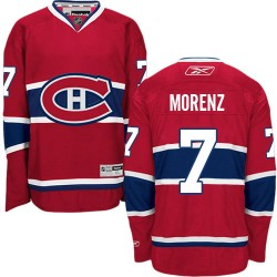 Adult Montreal Canadiens Howie Morenz Reebok Red Authentic Home NHL Jersey